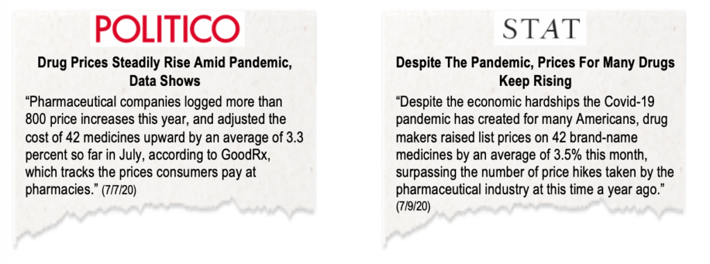 Dose Of Reality Big Pharma Sticks With Price Hiking Business As Usual During Pandemic Csrxp